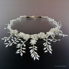 mlou jewelry - Custom Design Bead Jewelry - Nice example of leaf fringe.  Site has other fringe examples that are lovely.