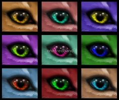 Andy Warhol Inspired Eyes by onefredband