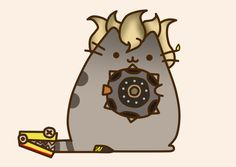 Pusheen Junkrat by Eckru.deviantart.com on @DeviantArt