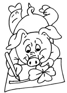 Coloring For Kids, Coloring Pages, Embroidery Patterns Free, Birthday Balloons, Birthday Celebration, Farm Animals, Alice, Cross Stitch, Scrapbook