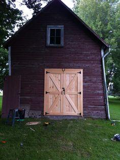 Custom barn doors I built for my girlfriend's parents during my week off - Williamstown, Ontario