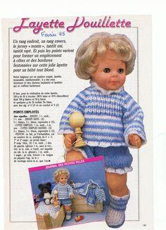 PAR AMOUR DES POUPEES :: M&T 1985-02 Layette douillette (tricot)