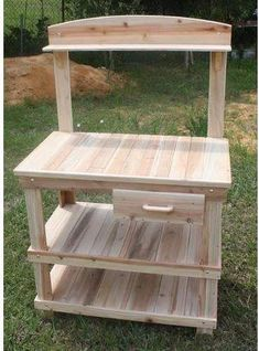 Woodworking Bench CedarCreekWoodshop Potting Bench - This potting bench is made entirely of beautiful western red cedar. It is lightweight and will withstand many years of use as cedar has it's own natural oils and is resistant to bugs and rot. Pallet Furniture Designs, Pallet Garden Furniture, Outdoor Furniture Plans, Furniture Projects, Wood Furniture, Antique Furniture, Cheap Furniture, Modern Furniture, Luxury Furniture