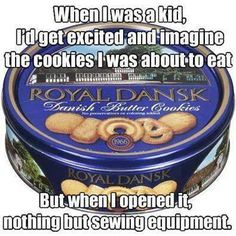 Hahaha oh god yes I still have one of these with my mom's sewing stuff in it.
