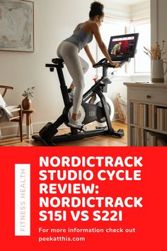 "The new NordicTrack Commercial S15i & S22i Studio Cycles with iFit Coach personal training app is our top pick for spin bikes. These premium stationary bikes are equipped with a vibrant 14"" & 20"" touchscreens for viewing iFit Coach workouts. The workout selection includes dozens of LiveCast spin class videos, plus an unlimited number of virtual outdoor bike workouts with Google Maps street views. #spinbike #spinclass #homefitness #homeworkout #exercisebike Physical Fitness, Fitness Gear, Health And Fitness Tips, Nutrition Tips, Health Diet, Health And Wellness, Bike Workouts, At Home Workouts, Workout Gear"