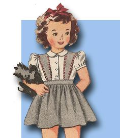 1940s WWII Era Dear Lil Tot Dress Pattern Sz 2 | eBay