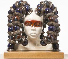 Ceramic sculpture by David Millidge. Multi piece slip-cast earthenware.