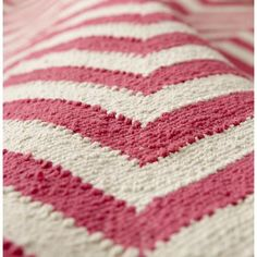 The Land of Nod | Kids Rugs: Pink Chevron Patterned Rug in All Rugs