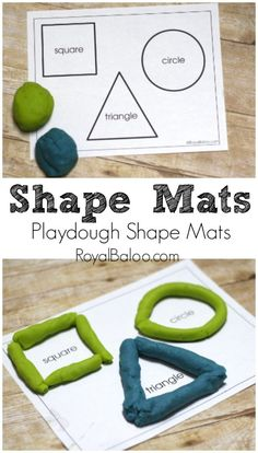 We don't make play dough often, so when we do it's a big hit.  We play with it every day for hours on end…until it goes away for a bit again.  Of course, I have to incorporate some educational activities into the mix when we play! When it comes to learning shapes, there …