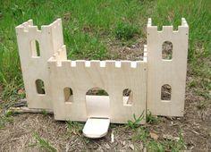 Wooden Castle Playset Kit. $36.00, via Etsy.