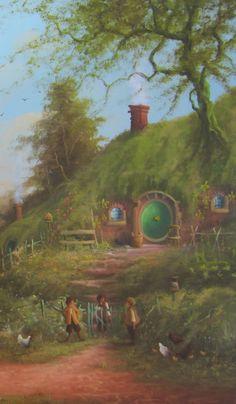 The Lord of the Rings Blog (Joe Gilronan Tolkien Art): Gossip at the gate.