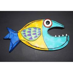Tra Art Studio handcrafted wood and metal fish sculptures. Wall Art Sets, Framed Wall Art, Framed Art Prints, Canvas Wall Art, Metal Fish, Wooden Fish, Yellow Wall Art, Fish Sculpture, Fish Art