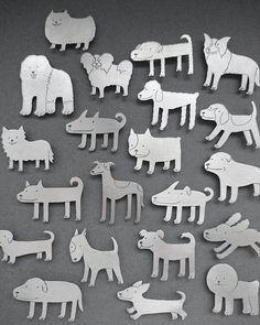"""Dog series"" by Sim Hyun-Seok. Silver 925."