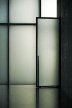 remash: kunsthaus bregenz | glass door ~ peter zumthor | eke miedaner photo via kazuya .i