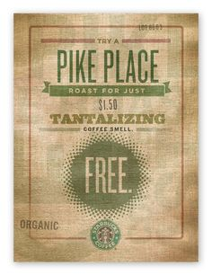 Starbucks Burlap - iamalwayshungry