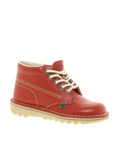 Enlarge Kickers Kick Hi Red Ankle Boots. Super cute x