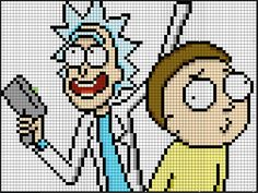 Rick and Morty perler bead pattern by Kyle McCoy