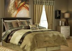 """11 Piece Full Sydney Bedding Bed in a Bag Bedding Set by GreenCanyon. $94.99. This elegant comforter set with olive and copper will add a rich look to your bedroom. Features Color: Olive/CopperSize: FullMachine Washable100% Polyester Matching curtains availableThis set includes:1 Comforter (78""""x86"""")2 Shams (20""""x26""""+3"""")1 Bedskirt (54""""x75""""+14"""")3 Decorative Cushions Plus 300 Thread Count Cotton Sheets:2 Standard pillowcases (20"""" x 30"""")1 Full flat sheet (81"""" x 96"""")1..."""