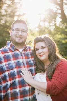 Gorgeous styling for a plus sized couple.