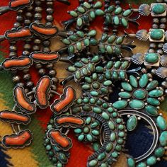 Squash blossom necklaces from Uchizono Gallery.