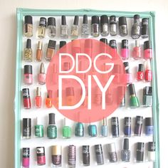 DDG DIY: Nail Polish Magnet Board - Ladies, it's DIY time! If you're looking for something fun (and clever) to do this weekend, then give this nail polish magnet board a go. The idea came to