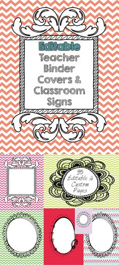FREE for a limited time! These sophisticated, yet fun and whimsical binder covers and classroom signs will be just what you need to keep yourself and your classroom organized! For the elementary, middle or high school teacher! You will receive 35 different pages that are all editable and customizable to fit you!