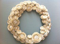 paper ranunculus wreath