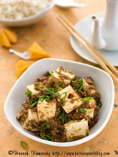 What we want for dinner tonight: this spicy Ma Po Tofu from Hannah Kaminsky.