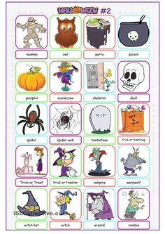 Halloween Picture Dictionary#2