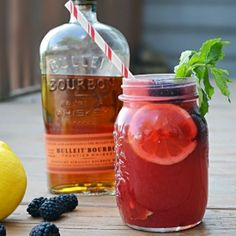 Bursting with fresh blackberry flavor, sweet squeezed lemon,  smooth bourbon, this cocktail will become one of your favorite summer drinks!