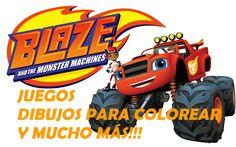 Juegos y dibujos para colorear de Blaze y los Monster Machines en blazemonstermachines.com