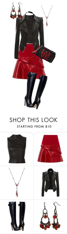 """Untitled #722"" by pholtond on Polyvore featuring Narciso Rodriguez, Carolina Herrera, Kim Rogers and Love Moschino"