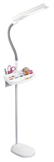 OttLite 18W Sewing Floor Lamp With Accessory Tray, , hi-res