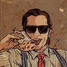 Slasher Movies, American Psycho, Horror Comics, Christian Bale, Devil, Joker, Illustration, Green, Artwork