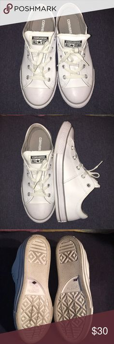 online store 0ad54 94302 Converse all star size 3 ⭐ 💕 Converse all start size 3 color white leather  brand new condition ⭐ 💕 Converse Shoes Sneakers