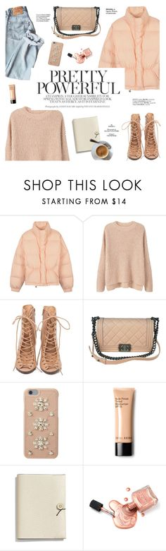 """""""Pretty powerful."""" by honestlyjovana ❤ liked on Polyvore featuring MANGO, Rebecca Minkoff, Chanel, MICHAEL Michael Kors, Bobbi Brown Cosmetics, Coach, Haute Hippie and puffers"""