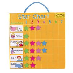 BEST star chart ever !!! Itsd magnetic and easy to change add etc limetreekids.com.au