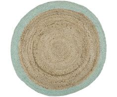Tappeto Ray beige/menta, d 100 cm Delia Fischer, Bathroom Inspiration, Turquoise, Interior Design, Boho, Home Decor, Carpets, Oasis, Round Rugs
