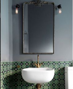 A powder room is just a rather more fancy way of referring to a bathroom or toilet room. Just like in the case of a regular bathroom, the powder room may present different challenges related to its interior design and… Continue Reading → Next Bathroom, Bathroom Inspo, Bathroom Inspiration, Bathroom Interior, Bathroom Ideas, Bathroom Grey, Vanity Bathroom, Bathroom Fixtures, Bathroom Tiling