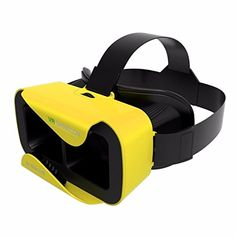 Globalvr VR Shinecon III 30 Mini Virtual Reality 3D Glasses Google VR Helmet BOX Game Video Headset For 476 inch Phone YELLOW ** More info could be found at the image url.(It is Amazon affiliate link) #comment