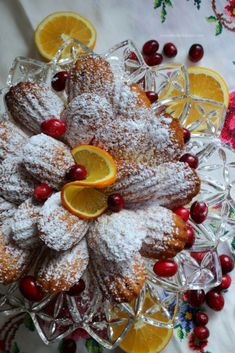 Cranberry Orange Madeleines with Pam Cooking Spray