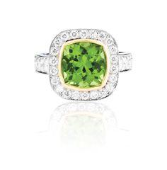 Peridot Coloured Stone Rings, Gemstone Colors, Peridot, Heart Ring, Wedding Rings, Jewels, Engagement Rings, Gemstones, Diamond