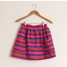 Falda mexicana con bolsillos