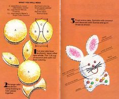 How to make a bunny cake with 2 round pans
