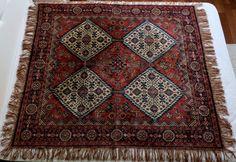 Vintage Rug antique tablecloth viscose sofa by MadeInTheUSSR