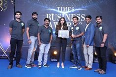 """OrgFarm wins """"Fastest Growing Online Organic Store"""" at the 'Times Business Awards 2021' by The Times of India Group. The CEO and Co-founder, Mr. Mukundu Kumaran, collecting the award from the ever ravishing Ms. Simran on behalf of Team OrgFarm. Times Of India, Co Founder, Press Release, Fast Growing, Social Platform, Times Business, Investing, Awards, Ms"""