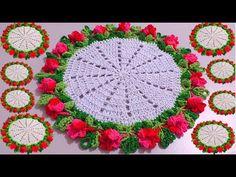 SOUSPLAT DE CROCHÊ com Botões de flores - Cristina Coelho Alves - YouTube Cristina, Crochet Videos, Youtube, Flower Button, Holiday Crochet, American Games, Crochet Table Runner, Bunny, Ribbons