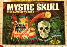 """Mystic Skull"" The Game of Voodoo ""Mysterious Moving Skull"" by Ideal Toys 1964 Old Board Games, Vintage Board Games, Monster Toys, Monster Art, Monster Games, Retro Toys, Vintage Toys, Retro Games, Antique Toys"