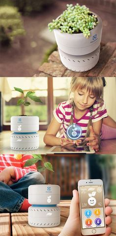 'Pure Life' is a planter that gives that sort of connect between children and plants, it gives the plant an avatar, telling the child when the plant is happy, or sad, or hungry... READ MORE at Yanko Design !