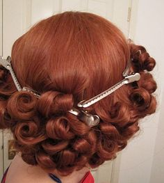 Setting hair in place for 1930s style